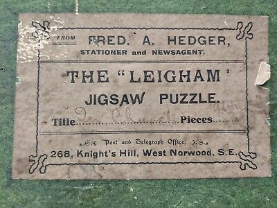 Vintage Fred A. Hedger Wooden Jigsaw Puzzle, The 'Leigham' In Church COMPLETE • 29.99£