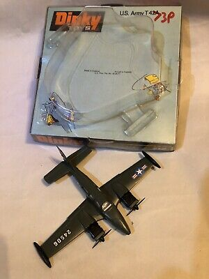 Vintage Dinky Toys Us Army T42a Beechcraft C55 Baron Light Aircraft Plane Vgc • 14.95£