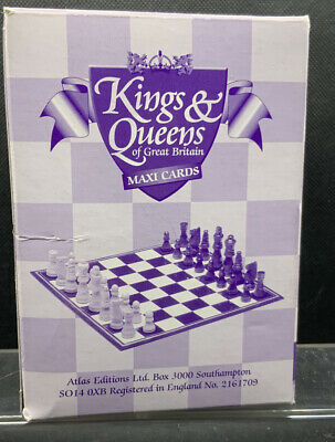 Kings & Queens Of Great Britain Maxi Cards Chess Pieces Atlas Editions BNIB • 8.50£