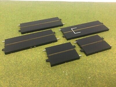 Triang Minic Motorways Refurbished 5 Black Single Lane Straight With New Rubber • 15£