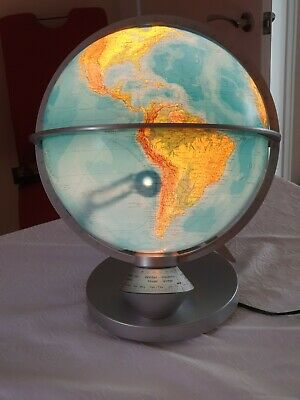 Columbus Light Up Day/night Educational/ornamental 32cm Globe. • 40£