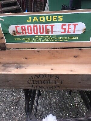 The Most Complete Jaques Of London Vintage Croquet Set Four Player And Rule Book • 325£