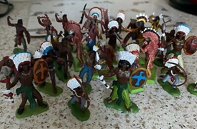 Vintage Red Indian Action Figures. Assorted.  • 50£