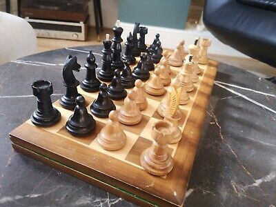 Old Russian Wooden Chess Set 60s • 139.99£