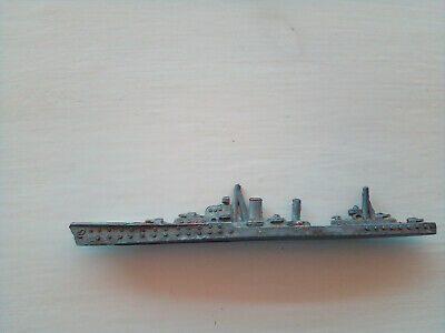 Vintage Crescent Toys, Lead Battleship, Made In England • 16£