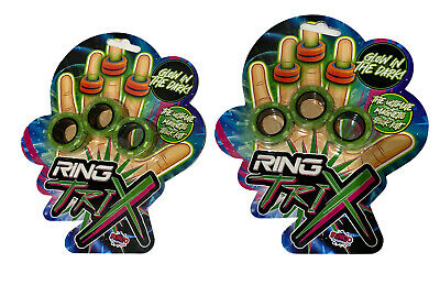 Ring Trix Magnetic Fidget Toy Glow In The Dark Calm De Stress L Various X2 Pack • 7£