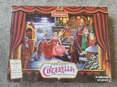 New Jigsaw Cinderella Super Deluxe 1000 Piece Limited Edition  Waddingtons  • 0.99£