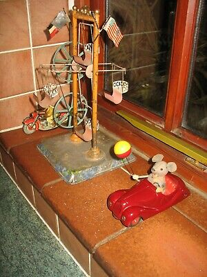 Nice Schuco Sonny Mouse # 2005 BMW Car Tin Toy Wind Up C.1948 Germany Tinplate • 235£