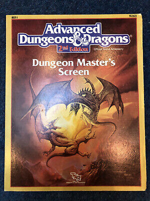 AD&D 2nd Edition Dungeon Master's Screen • 10£