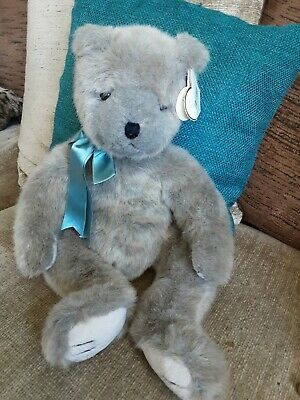 TY  Cinnamon  Grey /taupe Plush Teddybear - 5021 • 4.99£