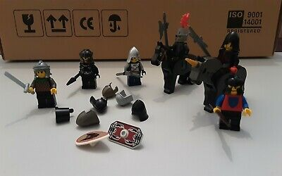 Vintage Lego Knights Mini Figures,  Horses, And Weapons,  Accessories.  • 8.95£