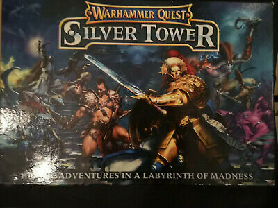 Warhammer Quest The Silver Tower - No Minatures Otherwise Complete • 25£