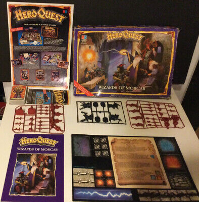 Heroquest Wizards Of Morcar Boxed Complete Unglued Unpainted • 319.99£