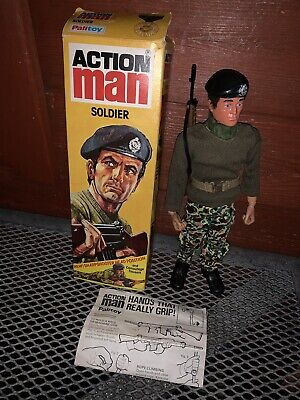 Vintage Palitoy Action Man Soldier Eagle Eyes Boxed Blue Pants • 144.99£