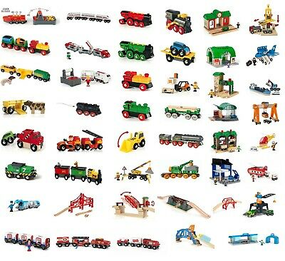 Brand New Wooden BRIO Battery Action Trains Inc Over 50 Brio Train Variations • 18£