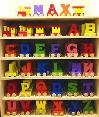 Alphabet Wooden Colourful Train Letters For Personalized Name As Children Gift • 7.50£