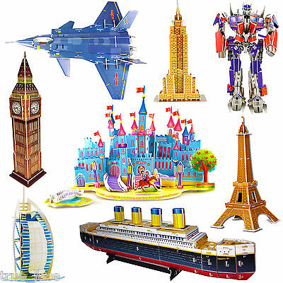 3D Famous Buildings Landmarks Architecture Replicas Models Jigsaw Puzzles Set UK • 6.99£