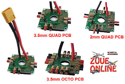 RC QUADCOPTER OCTOCOPTER POWER DISTRIBUTION BOARDS PCB WITH XT60 2mm 3.5mm  • 6.30£