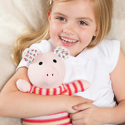 Intelex Heatable Knitted Warmer Pig - Microwave Soft Toy Microwavable Wheat Bag • 10.95£