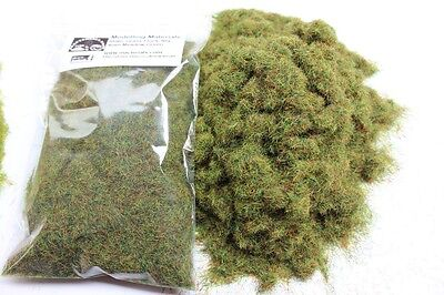 Static Grass 4mm Bulk Bag 50g - Meadow Green - Grass Flock First Class P&P • 5.99£