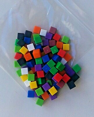 Counting Cubes New Pack-100 1cm Coloured Plastic Cubes For Artithmetic & Volume  • 4.60£