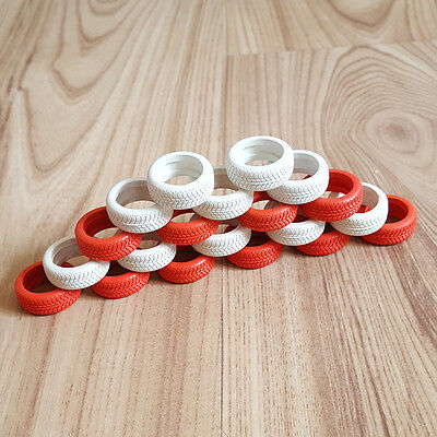 Scalextric Genuine Red & White Tyres For Range Rover Or Tyre Wall • 11.99£
