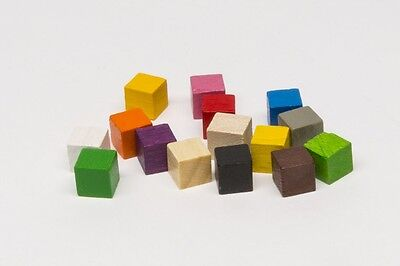Pack Of 10x 8mm Wooden Cubes • 1.25£
