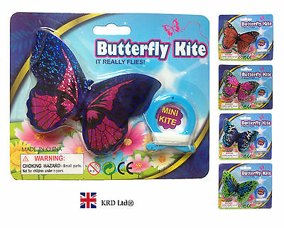 MINI BUTTERFLY Flying Kite Childrens Kids Line Kites Outdoor Park Beach Fun Toy • 5.50£
