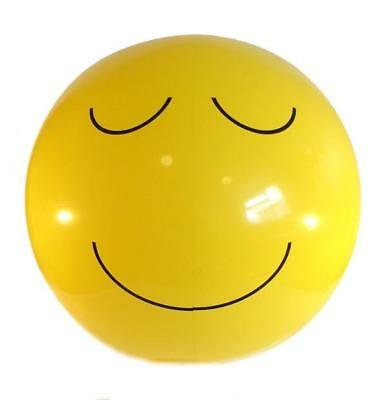 Inflatable Blow Up Smile Chilled Relaxed Relieved Emoji Face Beach Ball Gift Toy • 1.99£