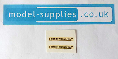 Dinky 289 Routemaster Bus London Transport Reproduction Waterslide Transfers Set • 2.21£
