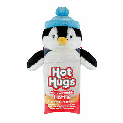 Aroma Home Hot Hugs Penguin Microwave Heated Plush Animal Hottie Soft Toy Teddy • 19.99£