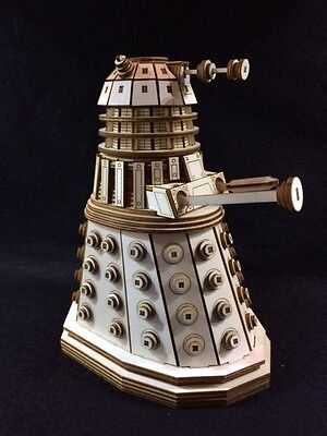 Dr Who's Dalek Laser Cut Wooden 3D Model/Puzzle Kit • 25.99£