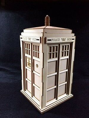 Dr Who's TARDIS Laser Cut Wooden 3D Model/Puzzle Kit • 25.99£