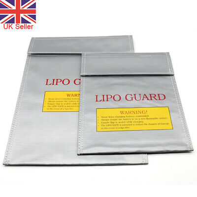 Lipo Charging Safe Bag Battery Guard Charge Sack Fireproof Storage • 3.97£