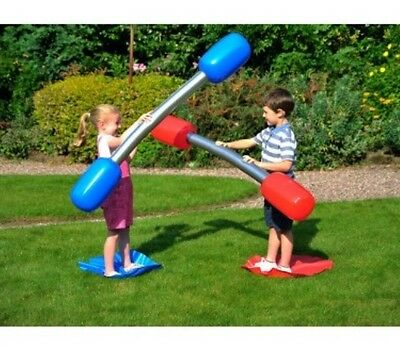 New Kids Or Adult Inflatable Outdoor Gladiator Game Set Summer Fun • 14.95£
