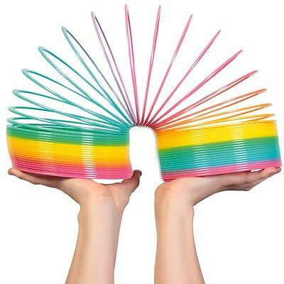 Giant Magic Rainbow Slinky Springy - Indoor/outdoor Colourful Childrens Classic  • 9.99£