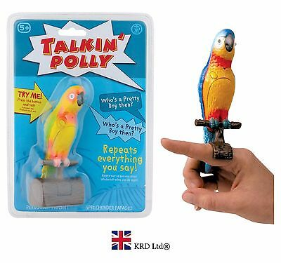 TALKING POLLY Speaking Parrot Bird Toy RECORDS & REPEATS Kids Fun Novelty Gift • 9.75£