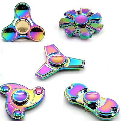 Rainbow Fidget Spinner Hand Finger Spinners EDC Toy Stress Release Gadget • 0.99£