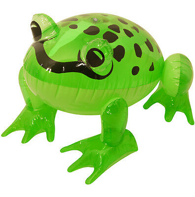 Green Inflatable Frog 39CM Blow-up Toy Fancy Dress Birthday/Hen/Stag Do Decor • 2.20£