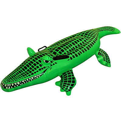 150cm Inflatable Crocodile Large Blowup Kids Swimming Pool Fancy Dress Party Toy • 6.99£