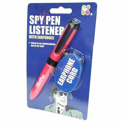 Spy Pen Listener Toy With Earphones - Sc127 Secret Device Childrens Toy Covert • 2.99£