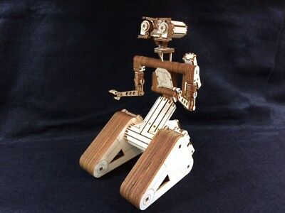 Laser Cut Wooden Johnny 5 Robot. Short Circuit Film. Model/Puzzle Kit • 27.99£