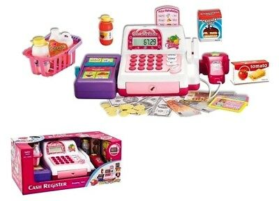 Children Shopping Cash Register Shop Till With Accessories Battery Operated ToyS • 14.99£