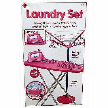 Kids Children Magical Iron Ironing Board Set Laundry Role Play New Set  • 19.99£