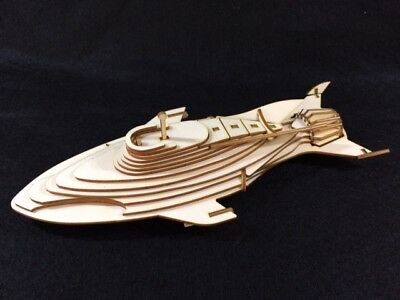 Stingray Laser Cut Wooden 3D Model/Puzzle Kit • 15.99£