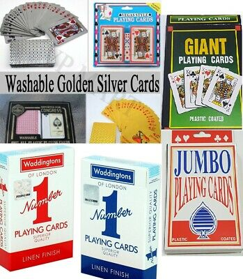 Waterproof Plastic Playing Cards Poker Silver Card Black Foil Golden Card Gift • 4.99£