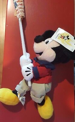 A Disney 4th Of July Mickey Mouse Mini Bean Bag Fife & Drum Corp 1999 Flag • 11.01£