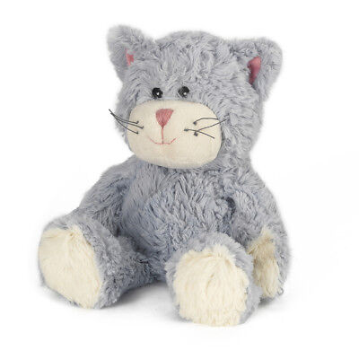 Warmies Cozy Plush Fully Microwavable BLUE CAT Lavender Scented Heatable Toy • 15.44£