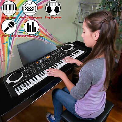 61 Keys Digital Music Electronic Keyboard Electric Piano Organ & Microphone Set • 12.49£