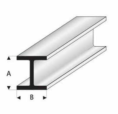 Maquett Styrene Plastic  Sections.  H  Column   Five X 330mm Long  Select Size • 3.85£